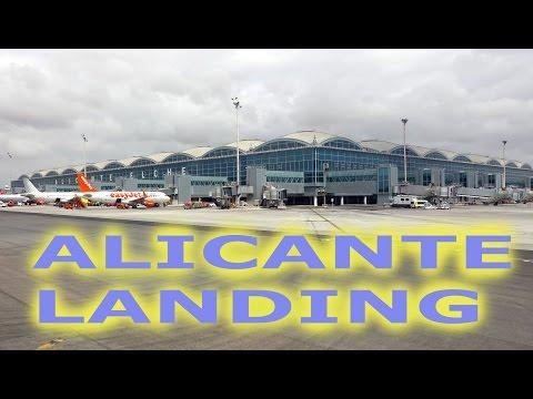 Landing in Alicante Airport - 2016 4K