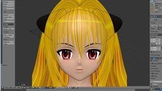 Crear Chica Anime 3d Blender (Cabeza)