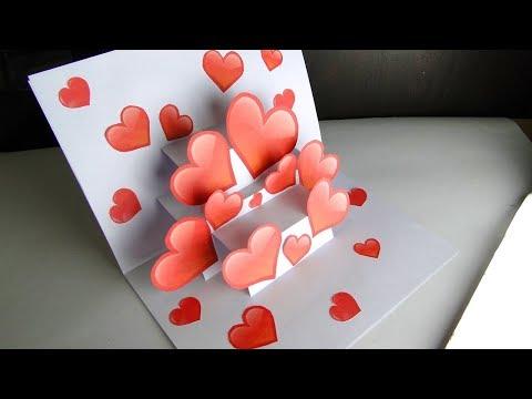 Xxx Mp4 DIY Pop Up Card Heart Card For Valentine S Day 3gp Sex