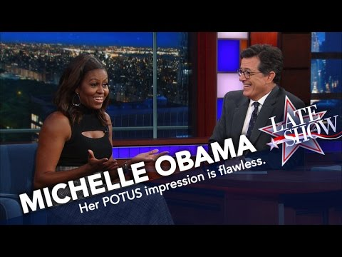 watch First Lady Michelle Obama Does Her Best Barack Impression