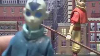 AVATAR THE LAST AIRBENDER CARTOON SPIRIT FORM AANG ACTION FIGURE REVIEW