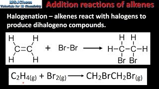 10.2 Addition reactions of the alkenes (SL)