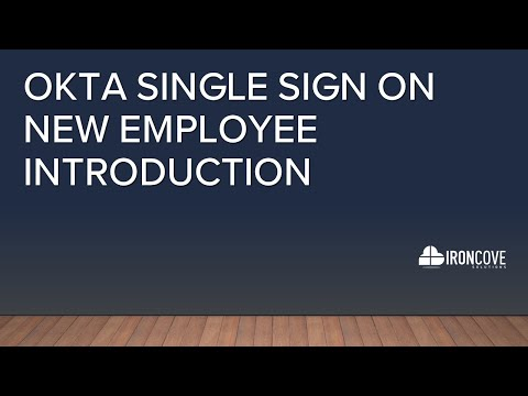 Okta Single Sign On new employee introduction video
