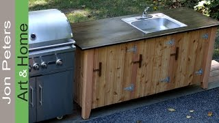 How to Build an Outdoor Kitchen Cabinet