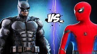 SPIDERMAN vs BATMAN - Batman (Justice League) vs Spider-Man (Homecoming)
