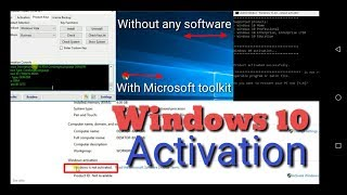 2018! Windows 10 all versions activation for free without software and crack. Simple and permanent