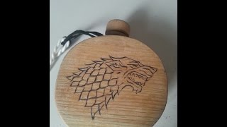 Game of Thrones: Stark Holzflasche/ stark wooden bottle