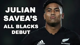 Julian Savea's All Blacks Debut