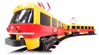 TRAINS FOR CHILDREN VIDEO: Model Czech Tram Car Tatra T3 from Prague (City Train) Toys Review
