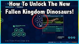 How To UNLOCK The NEW FALLEN KINGDOM Dinosaurs In Jurassic World Evolution!