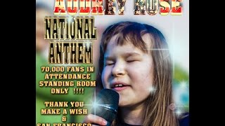 Audrey Rose Walker - National Anthem - 49er's Levis Stadium 70,000+ fans