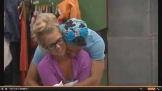 cody hugs nicole from behind 7/1/14