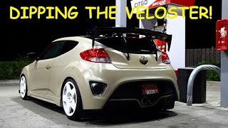 DIPPING MY VELOSTER!!