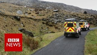 The final journey of the mystery man found on the moor (360 Video) - BBC News