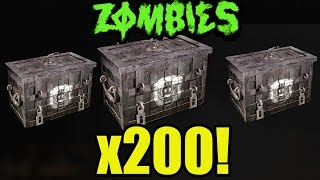 *NEW* 200+ WW2 ZOMBIES SUPPLY DROP OPENING!! (WW2 MULTIPLAYER & ZOMBIES SUPPLY DROPS)