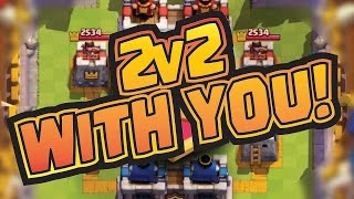 2v2 WITH YOU! Join us to play around with the new Clan Battle mode!