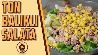 Ton Balıklı Salata - Diyete uygun   Fit Yemek