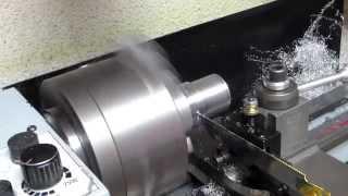 mini lathe , parting blade using a saw blade