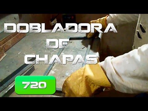 Dobladora de chapas Casera. Home made plate bender