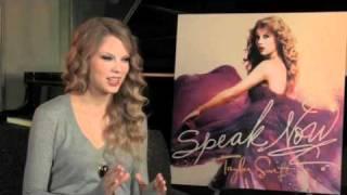 TAYLOR SWIFT talks about her new album 'SPEAK NOW'!