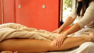 How to Massage the Back of the Legs | Ayurvedic Massage