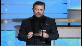 Ricky Gervais hosting the 2010 Golden Globes All of his good bits chained