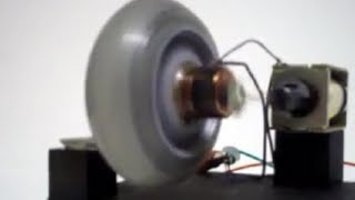 Toy Solenoid AC/DC Motor / Engine using a skate wheel. Easy hobby project. homemade. (lecmix)