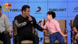 Salman Khan & Child Co Star Matin Have A Fun Filled Evening Of 'Tubelight' Part-3