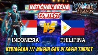 Kebiasaan Pro Player Indo Gak Kasih Turret Ke Musuh Indonesia vs Philipina National Arena Contest