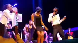 Irene Ntale , Radio and Weasel perform together at Omwana Wa Bandi concert