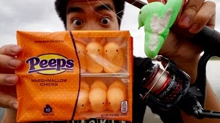 CRAZY EASTER FISHING CHALLENGE -- Can I Catch Fish on Peeps?!?!