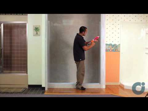 Frameless Shower Door Install - Inline Panel / Configuration | Illusion by Coastal