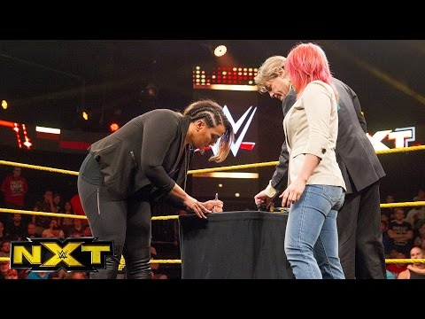 Xxx Mp4 Asuka And Nia Jax Sign Their TakeOver Contract WWE NXT June 1 2016 3gp Sex