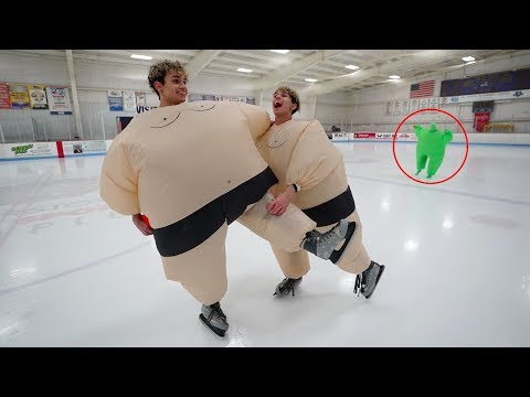 DO NOT ICE SKATE IN SUMO SUITS AT 3AM