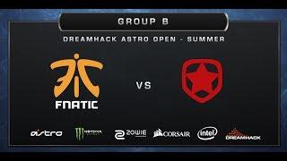 CS:GO - Fnatic vs. Gambit Gaming - Train - Group B - DreamHack ASTRO Open Summer 2017