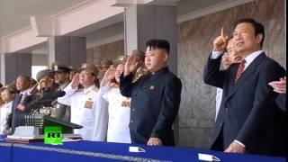 عرض عسكري لكوريا الشمالية قوة تهدد امريكا 2013