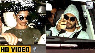 Deepika Padukone And Ranveer Singh's ROMANTIC Movie Date   LehrenTV