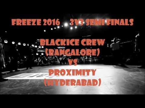 FREEZE 2016 | 3 v 3 Breaking semi finals | Blackice crew Vs Proximity