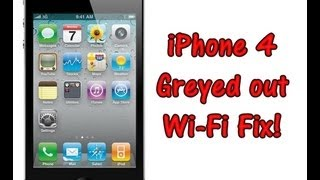 iPhone 4 Grayed out Wi-Fi Bar Fix!