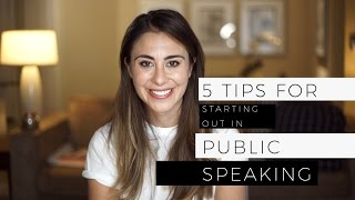 5 Tips For Public Speaking - For beginners!