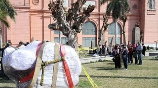 Ramses II statue arrives at Egyptian Museum in Cairo Egypt 3