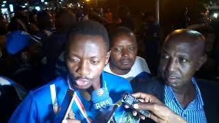 Uko Rayon Sports yakiriwe ku kibuga cy'indege i Kanombe