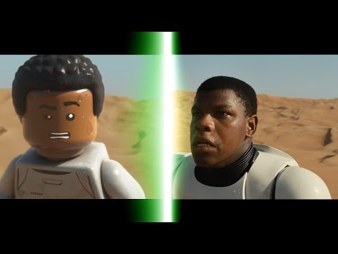 LEGO Star Wars The Force Awakens Trailer Comparison