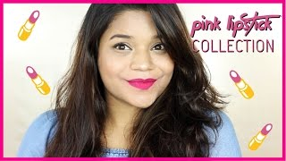 My Pink Lip colour Collection | Lip Swatches + Mini Reviews || Miss Pink Shoes