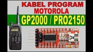 Membuat Kabel Program  Data Motorola GP2000 Pro2150