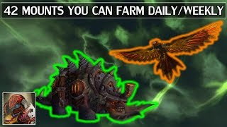 42 Mounts You Can Farm Daily or Weekly - WoW Legion