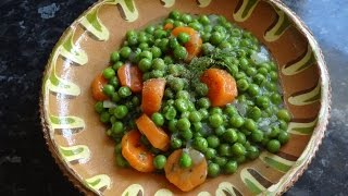 How To Cook Vegan Recipe Green Peas And Carrots Simple and Tasty Vegan Recipe