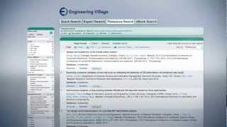 Engineering Village introduction