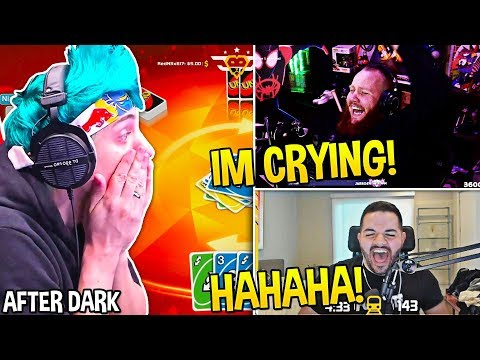 Everyone CRIES OF LAUGHTER Watching AFTER DARK NINJA Play UNO FT Tim CouRageJD Marcel