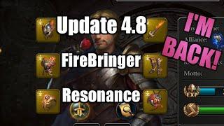 KoA Update 4.8 FlameBringer Smith Mark Resonance and Quick Hi - King of Avalon